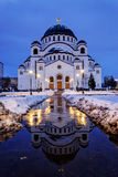 Cathedral of Saint Sava at evening Royalty Free Stock Photography
