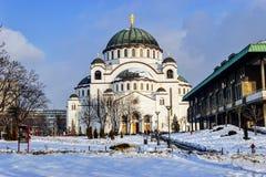 Cathedral of Saint Sava at winter Stock Photo