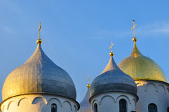 Cathedral of Saint Sophia in Veliky Novgorod, Russia - detailed closeup Stock Photography