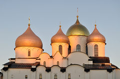 Cathedral of Saint Sophia in Veliky Novgorod, Russia - detailed closeup Stock Photo