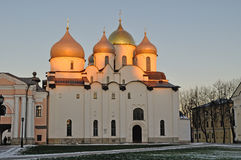 Cathedral of Saint Sophia in Veliky Novgorod, Russia - sunset landscape Stock Photo