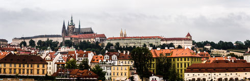 Cathedral of Saint Vitus in Prague. Panorama of the Cathedral of Saint Vitus in Prague Royalty Free Stock Images