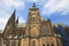Cathedral of Saint Vitus, Prague, Czech Republic. Stock Photos