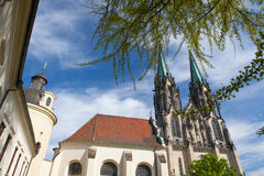 Cathedral of Saint Wenceslas, Olomouc, Czech Republic. / Czechia, Central Europe Royalty Free Stock Photography
