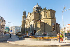 Cathedral of Saints Cyril and Methodius in Burgas, rear view, Bulgaria Royalty Free Stock Images