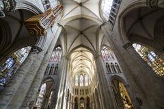 Cathedral Saints-Michel-et-Gudule de Bruxelles, Belgium Royalty Free Stock Photography