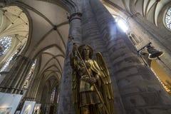 Cathedral Saints-Michel-et-Gudule de Bruxelles, Belgium Stock Photography