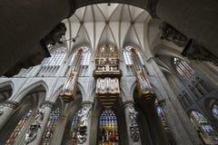 Cathedral Saints-Michel-et-Gudule de Bruxelles, Belgium Royalty Free Stock Image