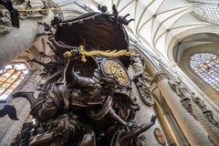 Cathedral Saints-Michel-et-Gudule de Bruxelles, Belgium Stock Image