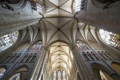 Cathedral Saints-Michel-et-Gudule de Bruxelles, Belgium Stock Photos