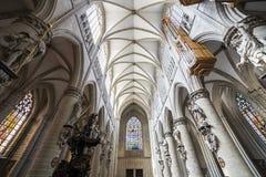 Cathedral Saints-Michel-et-Gudule de Bruxelles, Belgium Royalty Free Stock Images