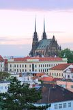 Cathedral of Saints Peter and Paul in Brno Stock Images