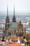 Cathedral of Saints Peter and Paul in Brno Stock Photo