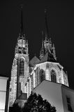 Towers of Brno Cathedral, Czech Republic Stock Images
