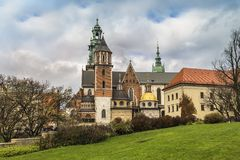 Cathedral of Saints Stanislaus and Vaclav in Krakow royalty free stock image