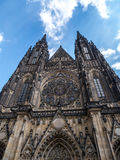 Cathedral of Saints Vitus, Wenceslaus and Adalbert in Prague Royalty Free Stock Photography