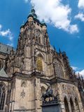 Cathedral of Saints Vitus, Wenceslaus and Adalbert in Prague Stock Images