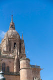Cathedral of Salamanca. Bell tower of Salamanca new Cathedtal. Spain Royalty Free Stock Photos