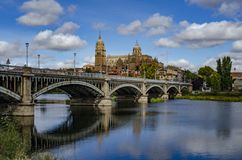 Salamanca Cathedral is a late Gothic and Baroque catedral in Salamanca city royalty free stock photos