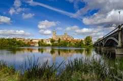 Salamanca Cathedral is a late Gothic and Baroque catedral in Salamanca city stock photography