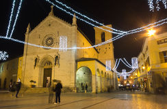 The cathedral of San Benedetto di Norcia Stock Photography