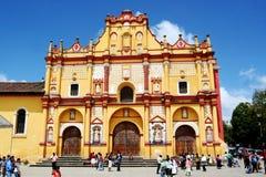 Cathedral in San Cristobal de las Casas Mexico. Templo de Santo Domingo cathedral in San Cristobal de las Casas Mexico royalty free stock photo