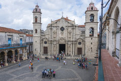 Cathedral San Cristobal in Havana, Cuba Royalty Free Stock Images
