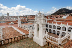 Cathedral San Felipe Neri Monastery at Sucre, Bolivia.  royalty free stock photography