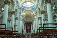 Cathedral of San Giovanni Battista in Ragusa. Sicily, Italy. Royalty Free Stock Images