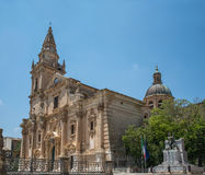 Cathedral of San Giovanni Battista in Ragusa. Sicily, Italy. Royalty Free Stock Photos