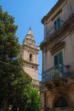 Cathedral of San Giovanni Battista in Ragusa. Sicily, Italy. Stock Images