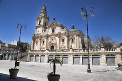 Cathedral of San Giovanni in Ragusa Royalty Free Stock Photos