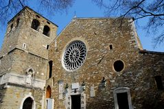 Cathedral of San Giusto Martire in Trieste in Friuli Venezia Giulia (Italy) Stock Photos