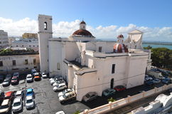 Cathedral of San Juan Bautista in San Jaun. Puerto Rico royalty free stock photography