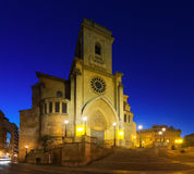 Cathedral  of San Juan de Albacete. In early morning time.    Castile-La Mancha, Spain Royalty Free Stock Image