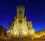 Cathedral  of San Juan de Albacete in early morning Royalty Free Stock Photography