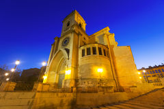 Cathedral  of San Juan de Albacete in early morning. Wide angle shot of Cathedral  of San Juan de Albacete in early morning.   Spain Royalty Free Stock Images