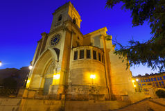 Cathedral of San Juan de Albacete  in evening Stock Image
