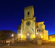 Cathedral of San Juan de Albacete. Evening view of   Cathedral of San Juan de Albacete Stock Images