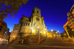 Cathedral  of San Juan de Albacete in evening Stock Photos