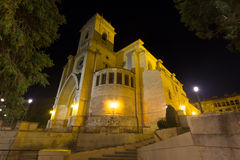 The Cathedral of San Juan de Albacete  in night Royalty Free Stock Photo