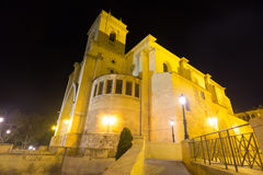 Cathedral of San Juan de Albacete  in night Stock Photo