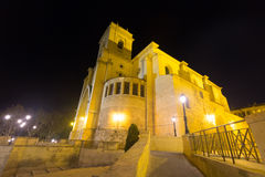 The Cathedral of San Juan de Albacete  in night. Spain Stock Photography