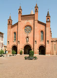 Cathedral San Lorenzo at Alba on Piedmont Royalty Free Stock Photography