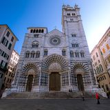 Cathedral of San Lorenzo. Biggest church in the Italian city of Genova Stock Photography