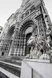 Cathedral of San Lorenzo in Genoa, Italy. Stock Photography