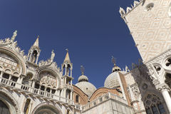 Cathedral of San Marco and Doge´s Palace (Venice). Cathedral of San Marco and Doge´s Palace (Venice, Italy). Roof architecture details Royalty Free Stock Photo
