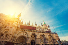 Cathedral of San Marco at sunrise Stock Photos