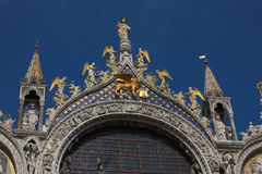 Cathedral of San Marco, Venice. Italy. Roof architecture details Royalty Free Stock Photography