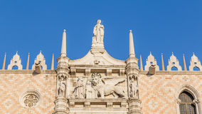 Cathedral of San Marco, Venice, Italy. Statues on the roof of the Cathedral of San Marco, Venice, Italy Royalty Free Stock Images